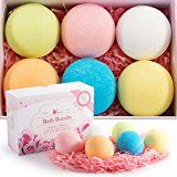 Bath Bombs kit made by VENERE, New gift set ideas for women, men, mom, girls, teens, birthday, easter, kids, valentines - Ultra Lush Spa Fizzies - Relaxing gifts for Bath Bubbles & Basket