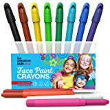 BEST FACE PAINT KIT for Kids with 12 Non-Toxic Color Sticks | Best Quality Painting Set, Sturdy Case+12 BONUS Stencils & E-book | Easy to Apply, Long Lasting,Water Based Twist Up Crayons!