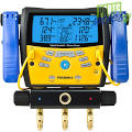 Fieldpiece 3-Port Digital Manifold with Micron Gauge & Pipe Clamps