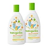 Babyganics Baby Bubble Bath, Orange Blossom, 12oz Bottle, (Pack of 2)