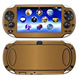 Decalrus - PlayStation PSP Vita GOLD Texture Brushed Aluminum skin skins decal for case cover wrap BAvitaGold