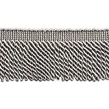 10 Yard Value Pack of Grey 2.5 Inch Bullion Fringe Trim, Style# EF25 Color: 049 (30 Ft / 9.5 Meters)