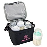 Breast Milk Baby Bottle Cooler Bag For Insulated Breastmilk Storage w/ Air Tight Design to Lock in the Cold & Preserve Important Nutrients for Your Baby