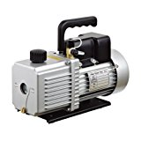 "HFS (R) Vacuum Pump Double Stage 12CFM ; 340 L/min ; 110V/60HZ ; Inlet port: 1/4"" and 3/8"" SAE; Ultimate Vacuum: 0.2Pa or 15 microns, Power1HP"
