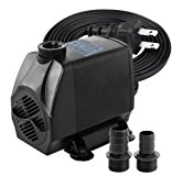 Minerva 1050 GPH - Submersible Water Pumps For Aquarium, Tabletop fountains, Pond, Water gardens and Hydroponic systems with Two Nozzles, CE-ROHS Approved, 5.8ft Power Cord