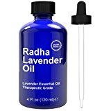 Radha Beauty Lavender Essential Oil Therapeutic Grade 4 Oz