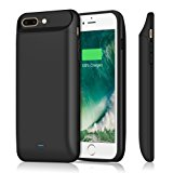 iPhone 7 plus 8 plus Battery Case 7200mAh, Upgraded iPosible Portable iphone 7 plus Charging Case Extended Battery Pack, Protective Juice Pack Charger Case for iPhone 8plus(5.5inch)