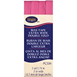 Wrights Double Fold Bias Tape, 1/2 by 3-Yard, Candy Pink