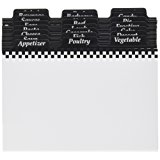 4-by-6-Inch Recipe Box Dividers