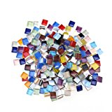 ROSENICE Mixed Mosaic Tiles for Crafts Crystal Mosaic Supplies 10mm 200g (Ten Colors)