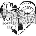 "The Crafter's Workshop 6"" x 6"" Template - Love to Fly [TCW640s]"