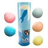 5 Ultra Large USA Made Bath Bomb Gift Set. Spa at Home with Jumbo Fizzies. Unique Skin Care Idea for Birthdays, Girls, Women, Moms, Weddings or Men. Elegant, Exquisite Moisturizer Kit for Relaxation!