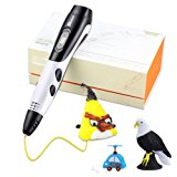 3D Pen for Kids with 7.5M long 1.75MM PLA - 2017 Tipeye Newest Version 3D Doodler Pen Kits 3D Printing Pen with LCD Display PLA Filament Refills for Adults, Doodling, Artist, Girls, DIY, Drawing etc