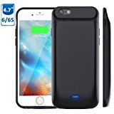 5000mAh Battery Case for iPhone 6S/6, Vproof Rechargeable External Battery Portable Power Charger Protective Charging Case for Apple iPhone 6,6S (4.7 Inch) (Black)