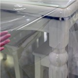 Home Basics Super Clear Oblong Heavy Duty PVC Tablecloth Cover Protector - 4 Sizes (54-inch by 72-inch)