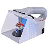 AW Light Portable Airbrush Spray Booth w/ LED Lighting 5.6' Hose For Painting Art Cake Craft Nails T-shirts