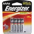 Energizer E92MP8 Max Alkaline Batteries AAA 8 Batteries/Pack ...