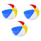 "3 Pack - 59020EP Intex 20"" Glossy Panel Colorful Beach Ball Inflatable Pool"