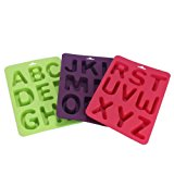 Prettymenny 3Pcs / Set Of Letters Silicone Handmade Cake Decoration DIY Mold