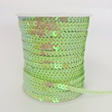 PEPPERLONELY Brand 100 Yard/Roll Metallic Flat Sequin Trim 4mm(3/16 Inch), Apple Green AB