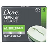 Dove Men+Care Body and Face Bar, Extra Fresh 4 oz, 8 Bar