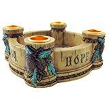 Joy, Faith, Love, Hope Advent Wreath Candle Holder (Single Unit/NC726)