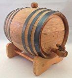 Premium Charred American Oak Aging Barrel - No Engraving (1 Liter)