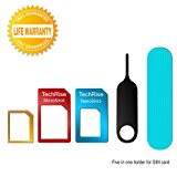 TechRise 5 in 1 Sim Card Adapter Kit with Sander Bar and Tray Open Needle