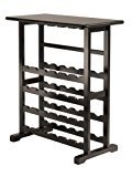 Winsome Vinny Wine Rack, 24 Bottle with Glass Hanger