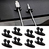Bleiou 8PCS Multifunctional Adhesive Car Charger Line Clasp Clamp Headphone/USB Cable Car Clip Interior Accessories