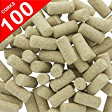 100 Blank Wine Bottle Corks- Bulk New #9 Agglomerated Natural Corks Best for Corking Homemade Wine Making With Home Corker or Craft Cork Supply for DIY Art Winecork Projects.