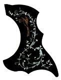 YMC Picguard-Acoustic-BK-Hummingbird Acoustic Guitar Pickguard, Self Adhesive, Black