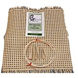 "Pressed Cane Webbing Kit, Contains an 18""x18"" Piece of 1/2"" Fine Open Cane Mesh, 6' of #8 Spline, 5 Wood Wedges and a Full Color Instruction Booklet (Breuer) (1/2"" Fine Open)"