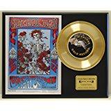 Grateful Dead LTD Edition Vintage Concert Poster Gold Record Display