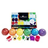 Kids BUBBLE Bath Bombs with Toy Surprises Inside(GENDER NEUTRAL for Boys and Girls) – Large Tennis Ball Size - Kid Safe - Gift Set Kit - Best Lush Fizzy - Made in the USA - by Two Sisters Spa