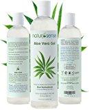 Organic Aloe Vera Gel Great for Face, Hair, Sunburn, Acne, Razor Bumps, Psoriasis, Eczema - 12 oz.