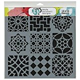 Crafters Workshop Template, 12 by 12-Inch, Moroccan Tiles
