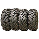 Wanda P341 ATV/UTV Tires 25 x 8-12 Front & 25 x 10-12 Rear, Set of 4