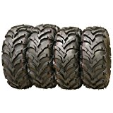 Wanda P341 ATV/UTV Tires 25 x 8-12 Front & 25 x 10-12 Rear, Set of 4
