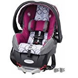 Evenflo Embrace Select Infant Car Seat with Sure Safe Installation, Evangeline Purple