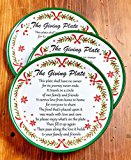 The Lakeside Collection Set of 3 Melamine Christmas Garland Giving Plates
