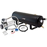 Vixen Horn 3 Gallon (12 Liter) Train/Air Horn Tank with 200 PSI Compressor Onboard System/Kit 12V VXO8330