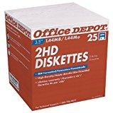 "Office Depot(R) 3 1/2"" Bulk Diskettes, IBM(R) Format, DS/HD, Black, Box Of 25"