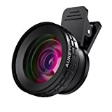 AUKEY Ora iPhone Camera Lens, 0.45x 140° Wide-Angle + 10x Macro Clip-On iPhone Lens for iPhone 8 / 7 / 6s / 6 Plus, Samsung, Other Android Smartphones