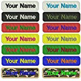Custom Embroidery Name Patch ,2 pieces Personalized Military Number Tag Customized Logo ID For Multiple Clothing Bags Vest Jackets Work Shirts