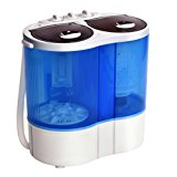 Giantex Portable Mini Washing Machine Gravity Drain Compact Twin Tub 7.7lb Washer Spinner Furni