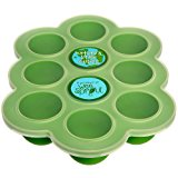 Silicone Baby Food Freezer Tray with Clip-on Lid by WeeSprout - Perfect Storage Container for Homemade Baby Food, Vegetable & Fruit Purees and Breast Milk - BPA Free & FDA Approved