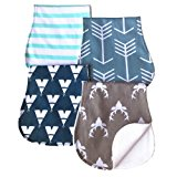 ARNZION Baby Burp Cloths Baby Burp Set Curved Absorbent and Soft Valuable 4 Pack