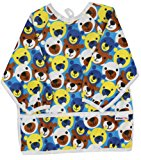 Pikababy Long Sleeved Bib Waterproof Bibs with pocket - 6 to 24 months baby girl and boy colors