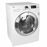 LG WM3455HW Front Load Washer / Dryer Combo with 1300 RPM, Ventless Condensing Dryer, LoDecibel Quiet Operation and LED Display, White